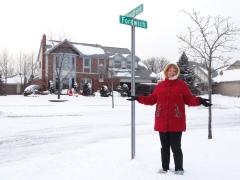 Snowy streets